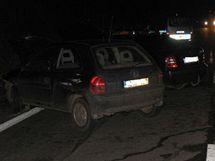 Srážka aut u Moravské Třebové