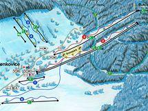 Panoramatická mapa Ski regionu Buková hora
