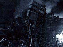 Trosky vlaků z neštěstí u Stéblové