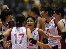 Radost japonských volejbalistek