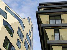 Nový komplex bytových domů Triplex v Pražské ulici v Karlových Varech.
