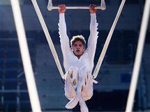 Ze zkoušky představení Saltimbanco souboru Cirque du Soleil