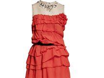 Červené šaty s volánky, 4 499 Kč