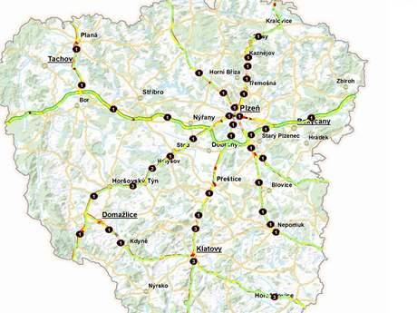 Mapa nehodovosti Plzeňského kraje