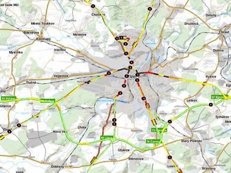 Mapa nehodovosti Plzeň