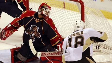 Brankáø Floridy Tomáš Vokoun kapituloval, Chris Conner z Pittsburghu mu vstøelil vítìzný gól.