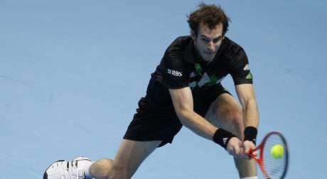ÚVODNÍ ZÁPAS. V prvním zápase mužské dvouhry na Turnaji mistrů se představil Andy Murray.
