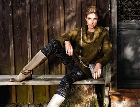 Podzimní kostkovaná móda.