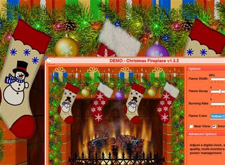 Fireplace Christmas Screensaver