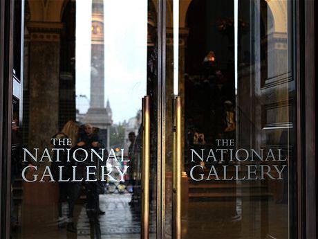 Vstup do Národní galerie na Trafalgarském náměstí