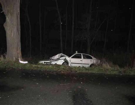Nehoda opilého řidiče u Opatovic nad Labem
