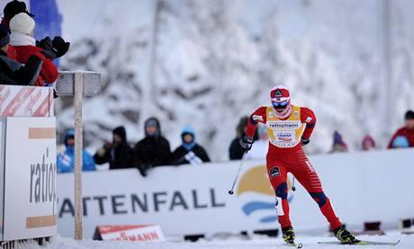 ZASE VÍTĚZÍ. Norská běžkyně na lyžích Marit Björgenová finišuje pro další triumf.