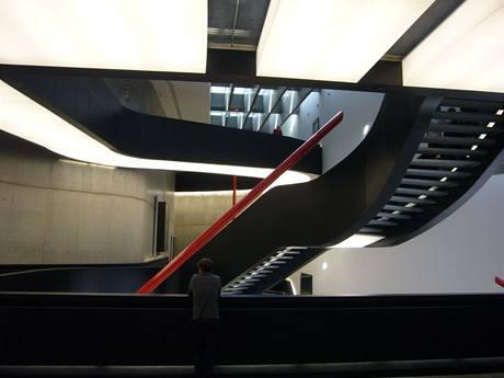 Budova MAXXI je sama o sobě uměleckým dílem