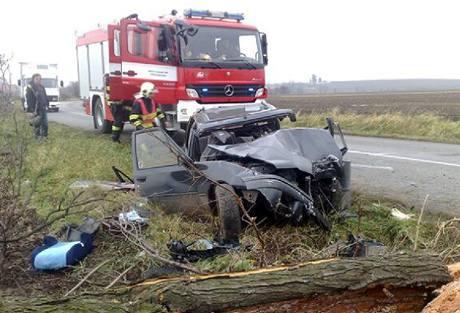 Nehoda u Černíků na Nymbursku (26.11. 2010)