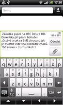 Displej HTC Desire HD (komunikace)