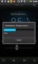 Displej HTC Desire HD (FM rádio)