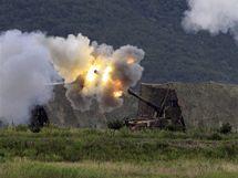 Houfnice jihokorejské armády během vojenských manévrů (2. srpna 2010)