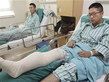 Mladíci zranění při severokorejském ostřelování ostrova Jonpchjong (24. listopadu 2010)
