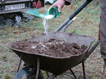 Do horní vrstvy hlíny přidejte půdní kondicionér