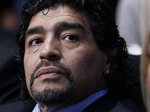 Diego Maradona sleduje tenisov� Turnaj mistr� v Lond�n�