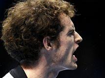 Andy Murray prožívá zápas