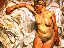 Tate Britain: portrét nahé ženy malíře Luciana Freuda, vnuka Sigmunda Freuda