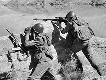 Vojáci Sovětského svazu při bojích v Afghánistánu. (duben 1988)