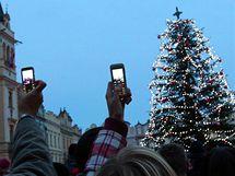 Rozsvěcení stromu na Pernštýnském náměstí v Pardubicích
