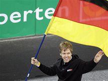 Sebastian Vettel před Závodem šampionů v Düsseldorfu.