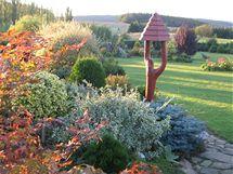 Paní Ivana na zahradě ráda kombinuje rostliny a keře, které jí připadají zajímavé