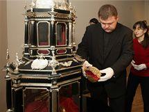 Relikviář svaté Pavlíny, patronky města Olomouce, který představí ve zrekonstruované podobě Muzeum umění v rámci velkolepé výstavy Olomoucké baroko letos od 2. prosince.
