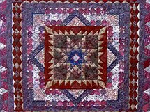 Deka vyrobená metodou patchwork