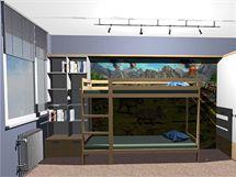 Dětský pokoj pro dva kluky na 12 metrech čtverečních