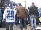 Odjezd fanoušků hokejové Komety do Prahy na utkání se Slavií 30. listopadu 2010