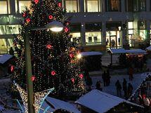 Vánoční strom a trhy v Ústí nad Labem