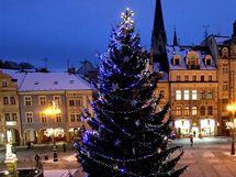 Vánoční strom na libereckém náměstí