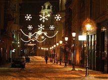Vánoční výzdoba v Plzni