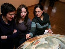 Příprava jednoho z exponátů největší výstavy v dějinách Olomouce nazvané Olomoucké baroko.