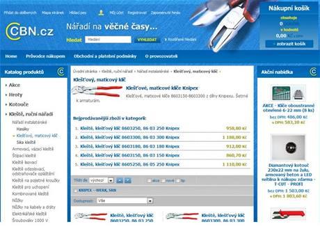 C B N v. o. s. -  specializovaný internetový shop na brusné a řezné kotouče, nářadí Knipex, Hanstool, Kennametal.