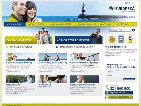 Evropská cestovní pojišťovna nabízí pojištění na cesty on-line