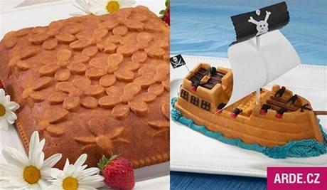 pirátská loď - forma na pečení