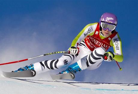 VYHRÁLA. Němka Maria Rieschová si jede pro vítězství v závodě Světového poháru v Lake Louise.