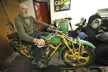 Unikátní motocykl Čechia - Böhmerland Karla Konfršta