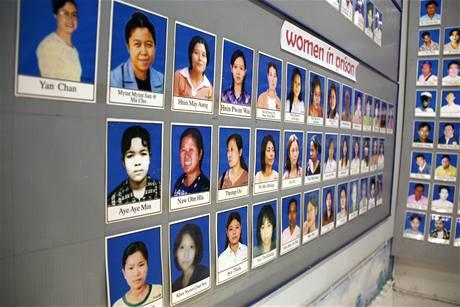 Na zdech muzea AAPP visí portréty politických vězňů