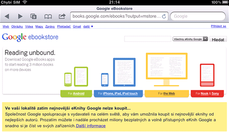 Google začal prodávat elektronické knihy