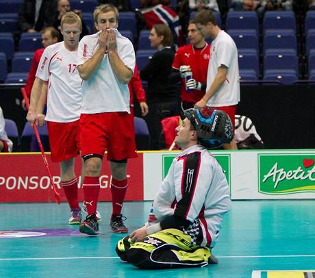 Norské zklamání po porážce s Čechy.