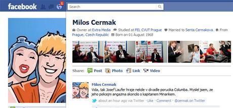 Nový profil na Facebook.com