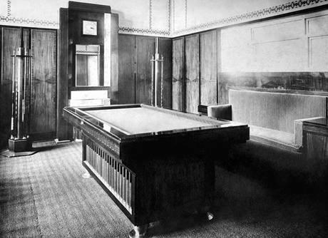 Kulečníkový pánský pokoj, 1908