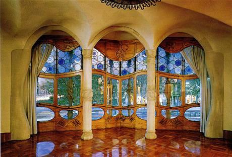 Interiér pánského salonu v prvním patře stavby