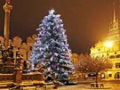 Vánoční strom v Pardubicích.